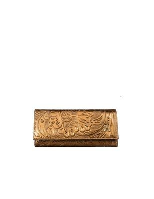Leather Wallet 101 Cincelado Bronce