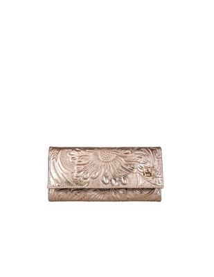 Leather wallet 101 Cincelado Pink Gold