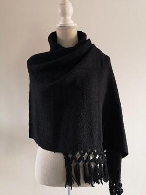 Handmade Rebozo, black.