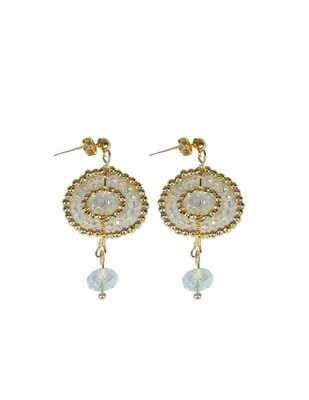 Earrings Crystal 301 Gold AND transparent
