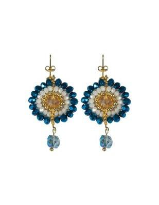 Earrings Crystal 301 blue