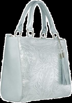 Handbag Pilar Plata Cincelado