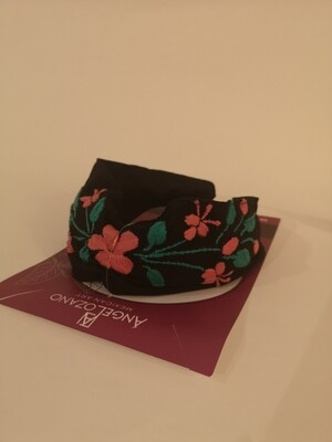 Diadema with embroidery BLACK