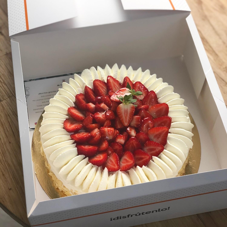 Pastel de fresa y nata ¡Sublime!