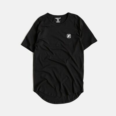 Футболка Footwork Box Logo Drop Tail Black