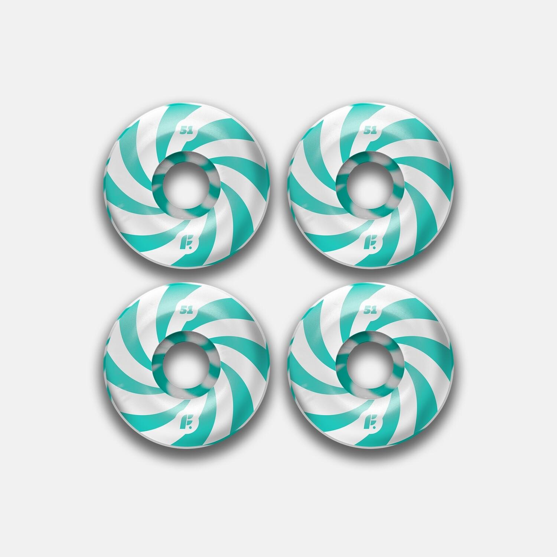Комплект колес Footwork Swirl Mint 99A