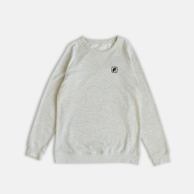 Свитшот Footwork Box Logo Oatmeal Heather