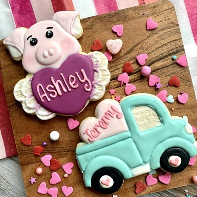 Valentine's Day Personalized Cookie Options