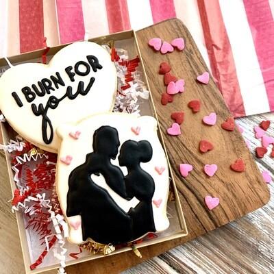 Binge Worthy Valentine's Cookies