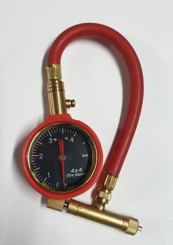 RED PRESSURE & BLOW-DOWN GAUGE FOR 4X4