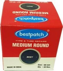 RO3/MEDIUM BEST TUBE PATCH 60MM, 30/BOX,