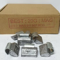 BEST MAG 20G LEAD WHEEL WEIGHT/50 PER BOX