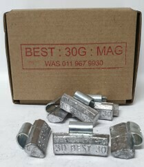 BEST MAG 30G LEAD WHEEL WEIGHT/50 PER BOX