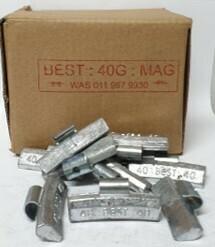 BEST MAG 40G LEAD WHEEL WEIGHT/50 PER BOX
