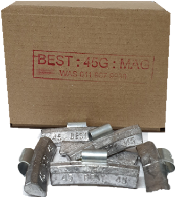 BEST MAG 45G LEAD WHEEL WEIGHT/50 PER BOX