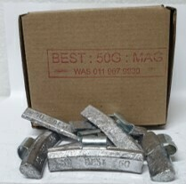 BEST MAG 50G LEAD WHEEL WEIGHT/50 PER BOX