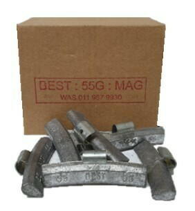 BEST MAG 55G LEAD WHEEL WEIGHT/50 PER BOX