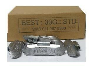 BEST STD 30G LEAD WHEEL WEIGHT/50 PER BOX