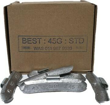 BEST STD 45G LEAD WHEEL WEIGHT/50 PER BOX