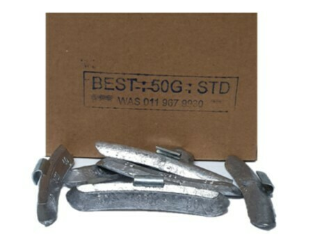 BEST STD 50G WHEEL WEIGHT/50 PER BOX