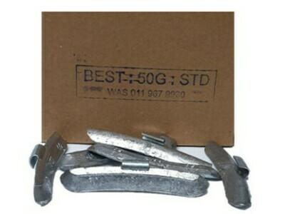 BEST STD 50G WHEEL WEIGHT/50 PER BOX