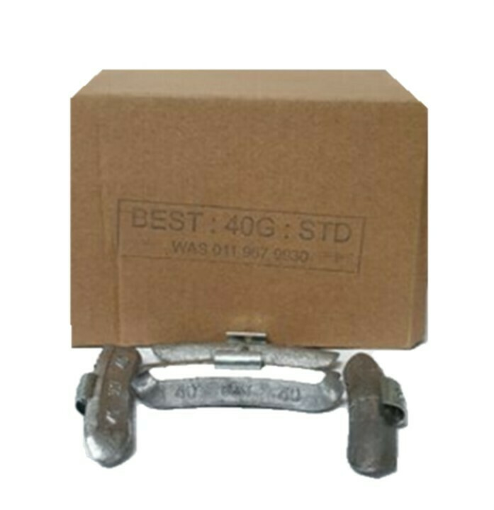 BEST STD 40G LEAD WHEEL WEIGHT/50 PER BOX