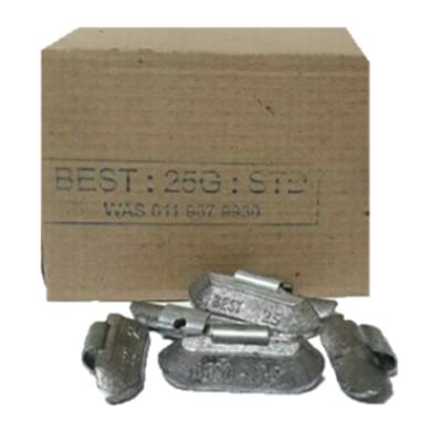 BEST STD 25G LEAD WHEEL WEIGHT/50 PER BOX