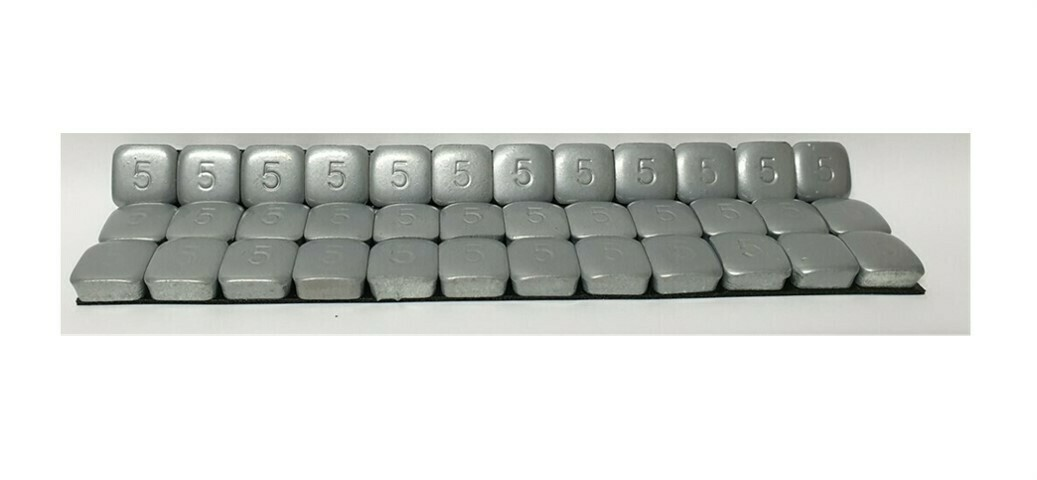 STICK-ON WHEEL WEIGHTS 12 x 5G STRIPS - 30 PER BOX - MOTORBIKE