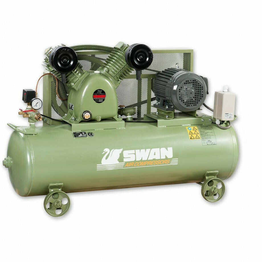 SWAN AIR COOLED PISTON TYPE, 220V AIR COMPRESSOR.