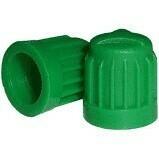 GREEN PLASTIC VALVE CAPS (100)
