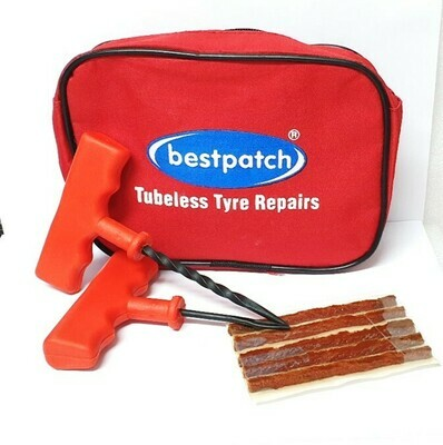 BESTPATCH TUBELESS REPAIR KIT IN RED POUCH