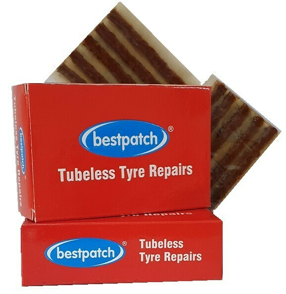 TUBELESS PLUGS, BESTPATCH, BROWN - 25/PK