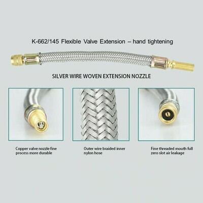 145mm Flexible Valve Extensions with Brackets