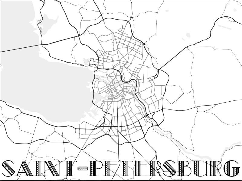 """Постер """"SAINT-PETERSBURG"""""""