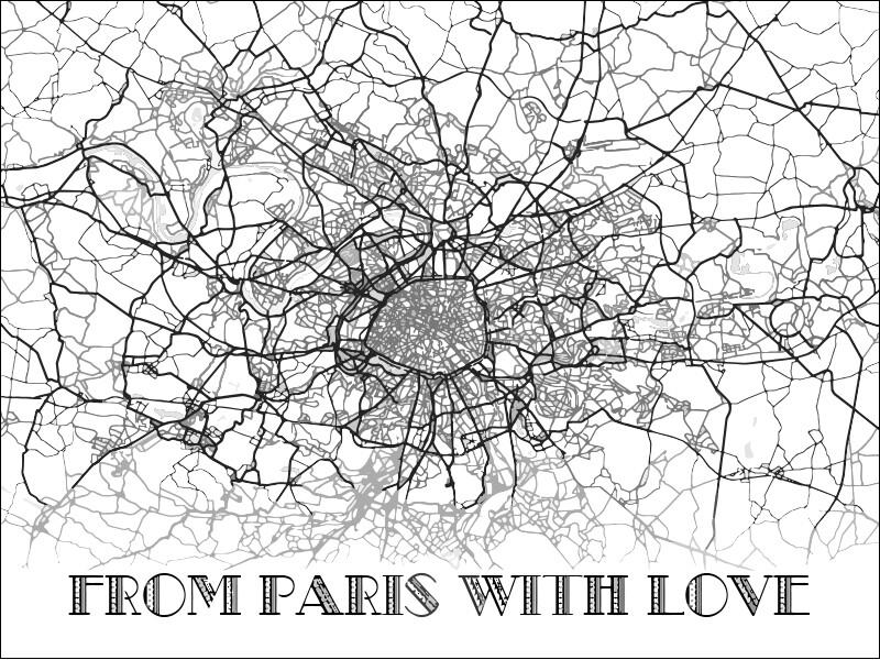 "Постер ""Париж"""