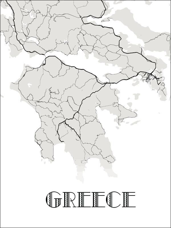 "Постер ""Греция"""