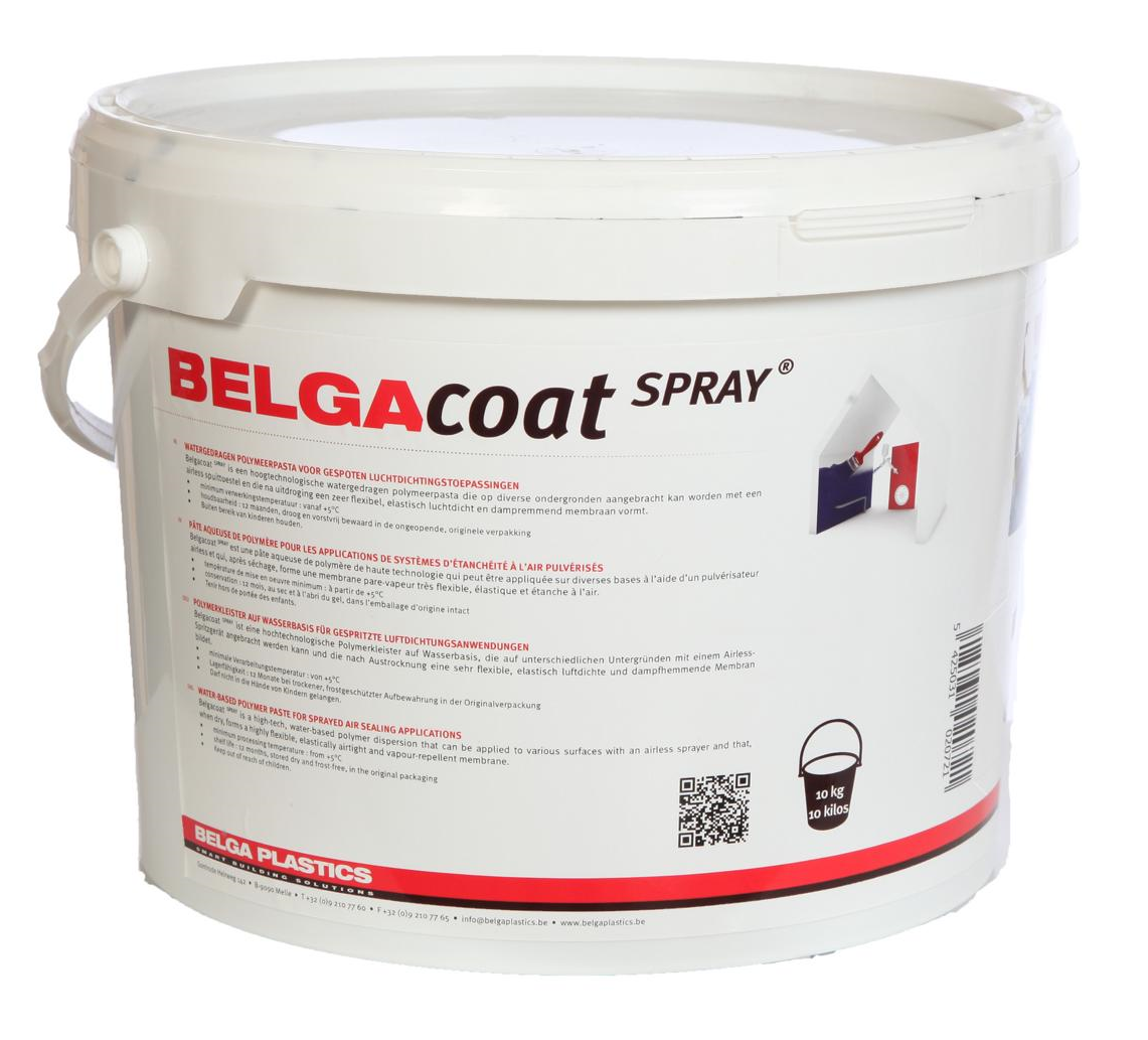 Belgacoat Spray dark 10 liter, air tight paint