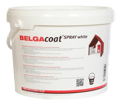 Belgacoat Spray white 10 liter, air tight paint
