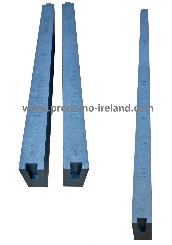 Thermal insulation bracket for windows, 70mm/100mm/120mm x 85mm x 1,175mm