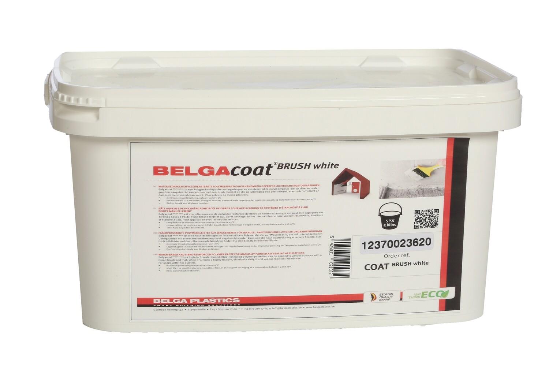 Belgacoat Brush white 5 liter, air tight paint