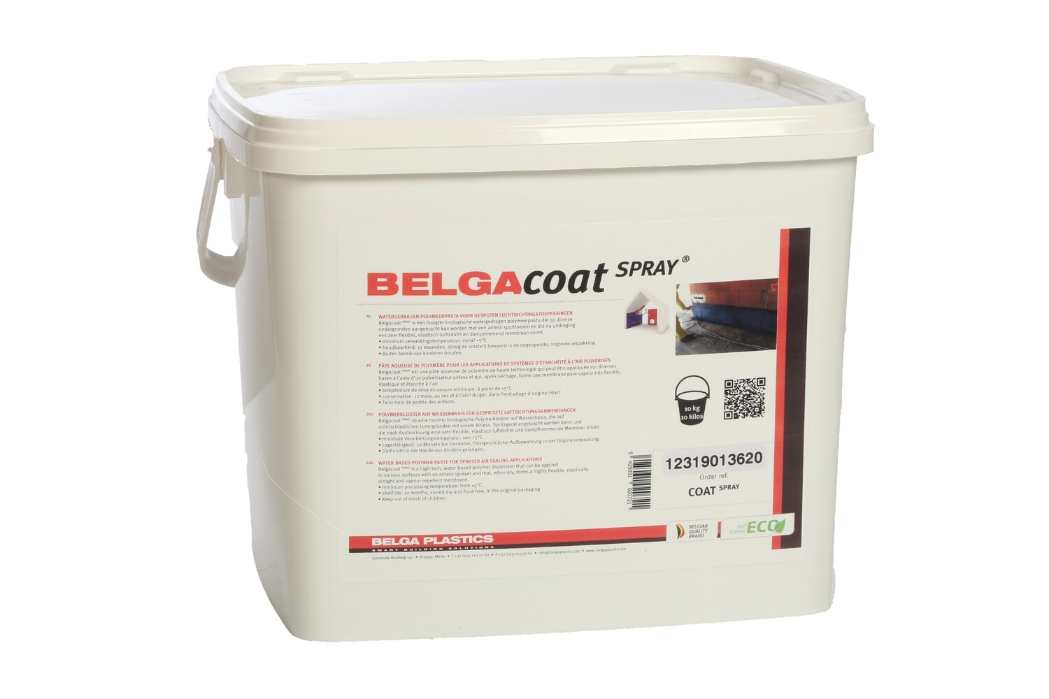 Belgacoat Spray dark 10 liter, air tight paint