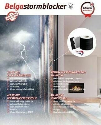 BelgaStormblocker, self-adhesive window tape, 100mm x 25m