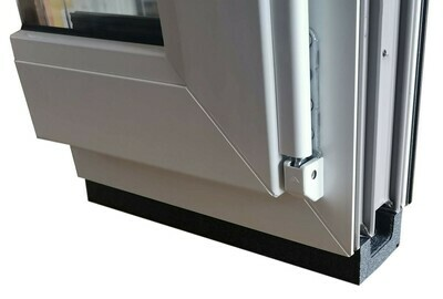 Thermal base insulation bracket for windows, 30mm/50mm x 64mm x 1,175mm