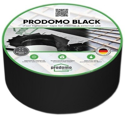prodomo BLACK Air Tight Tape, 60mm x 25m