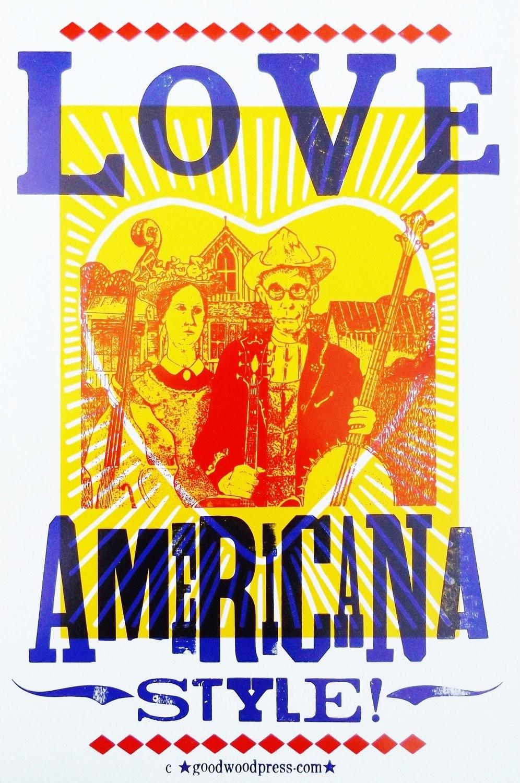 Love Americana Style - Handmade LetterPress Poster