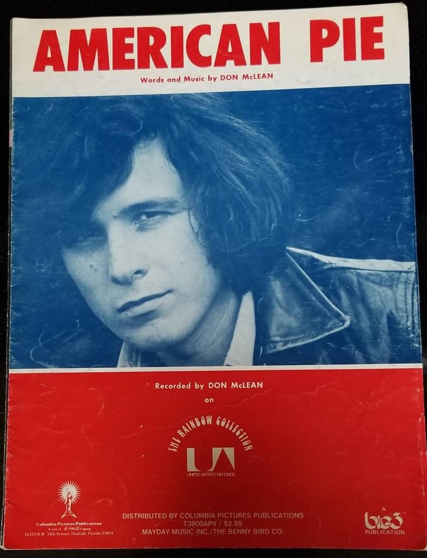 American Pie Don McLean Vintage Sheet Music 1970s