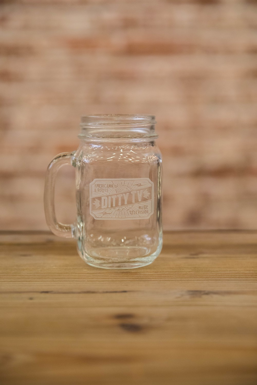 DittyTV Engraved Mason Jar Glass