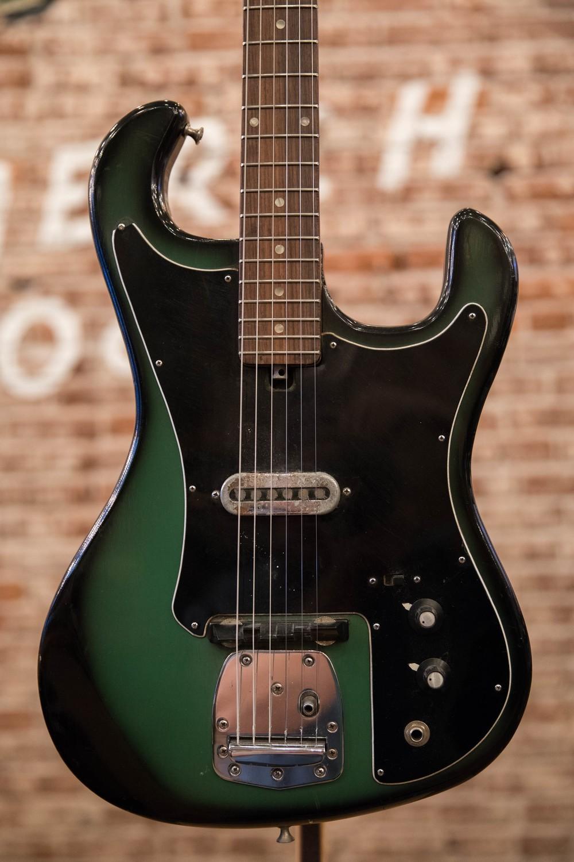 1963 DYKO Teisco green burst electric guitar