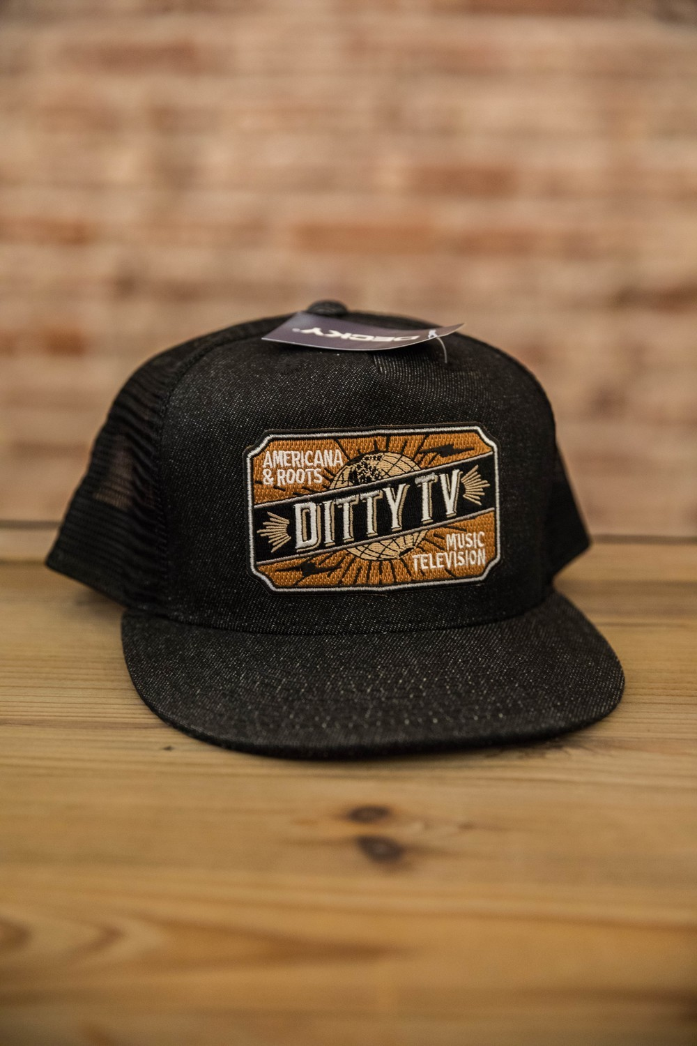 Decky Denim Trucker Hats - Black