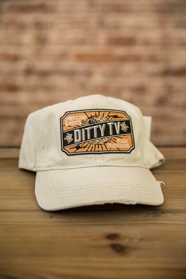 Decky Vintage Fitted Polo Caps - Cream